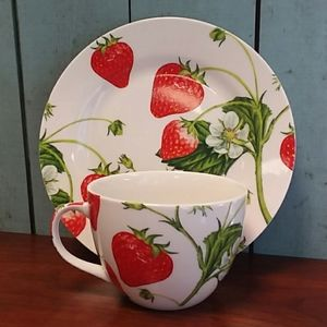Other - Strawberry Cup and Saucer